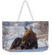 Wyoming Sunbathing Weekender Tote Bag