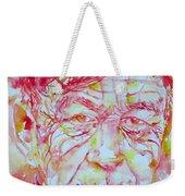 Wystan Auden  Watercolor Portrait Weekender Tote Bag