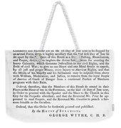 Wythe: Broadside, 1774 Weekender Tote Bag