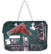X-ray Of A Briefcase With A Gun Weekender Tote Bag