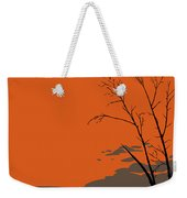 Abstract Tropical Birds Sunset Large Pop Art Nouveau Landscape 3 - Left Side Weekender Tote Bag