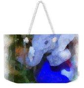 Xmas Elephant Ornament Photo Art 02 Weekender Tote Bag