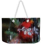 Xmas Red Ornament Photo Art 03 Weekender Tote Bag