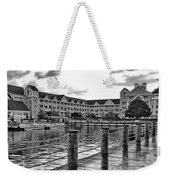 Yacht And Beach Club After The Rain In Black And White Walt Disney World Weekender Tote Bag