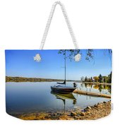 Yacht At The Little Manitou Lake Weekender Tote Bag