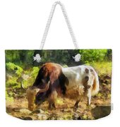 Yak Having A Snack Weekender Tote Bag