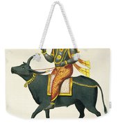 Yama, God Of The Invisible World Weekender Tote Bag