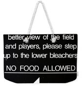 Yankee Stadium Lower Bleachers Sign Weekender Tote Bag