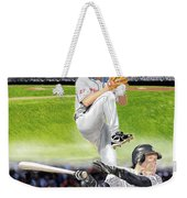 Yankees Vs Indians Weekender Tote Bag
