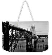 Yaquina Bay Bridge Weekender Tote Bag by Benjamin Yeager