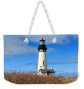 Yaquina Bay Lighthouse In Oregon Weekender Tote Bag