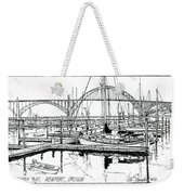 Yaquina Bay Newport Oregon Weekender Tote Bag