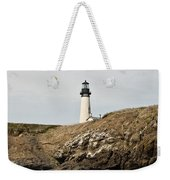 Yaquina Head Lighthouse From The Beach Weekender Tote Bag