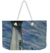 Yaquina Head Lighthouse Original Painting Weekender Tote Bag