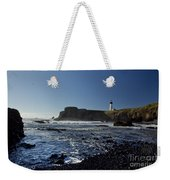 Yaquina Lighthouse And Beach No 1 Weekender Tote Bag