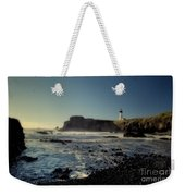 Yaquina Lighthouse And Beach No 2 Weekender Tote Bag