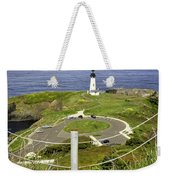 Yaquina Lighthouse From Salal Hill Trail  Weekender Tote Bag