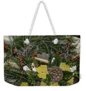 Yarrow And Lotus Wreath Squared Weekender Tote Bag