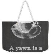 Yawn For Coffee Weekender Tote Bag by Nancy Ingersoll