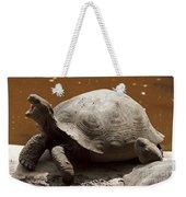 yawning juvenile Galapagos Giant Tortoise Weekender Tote Bag
