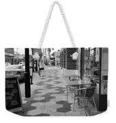 Ybor City Sidewalk - Black And White Weekender Tote Bag