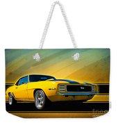 Yellow 1969 Camaro Ss Weekender Tote Bag