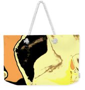 Yellow Abstract Weekender Tote Bag