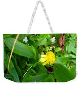 Yellow Accent Weekender Tote Bag
