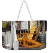Yellow Adirondack Rocking Chairs Weekender Tote Bag