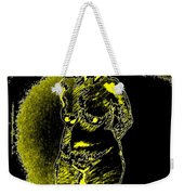 Yellow And Black Woman Weekender Tote Bag