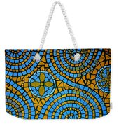 Yellow And Blue Mosaic Weekender Tote Bag