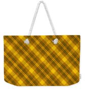 Yellow And Brown Diagonal Plaid Pattern Cloth Background Weekender Tote Bag