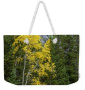 Yellow And Green Weekender Tote Bag