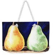 Yellow And Green Pear Weekender Tote Bag