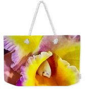 Yellow And Magenta Cattleya Orchid Weekender Tote Bag