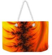 Yellow And Orange Fractal Fire Weekender Tote Bag