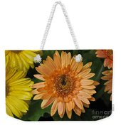 Yellow And Peach Daisy Weekender Tote Bag