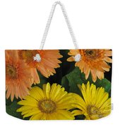 Yellow And Peach Weekender Tote Bag