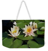 Yellow  And Pink Lily  Weekender Tote Bag