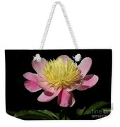Yellow And Pink Peony Weekender Tote Bag