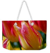 Yellow And Pink Tulips Weekender Tote Bag