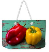 Yellow And Red Bell Pepper Weekender Tote Bag