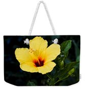 Yellow And Red Hibiscus Weekender Tote Bag