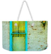 Art Deco Lamp And Yellow And Turquoise Window Weekender Tote Bag