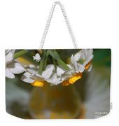 Yellow And White Weekender Tote Bag