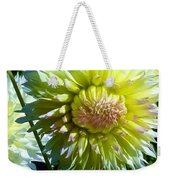 Yellow And White Dahlia Flowers Weekender Tote Bag