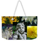Yellow And White Flower Collage Weekender Tote Bag