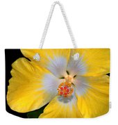 Yellow And White Hibiscus Weekender Tote Bag