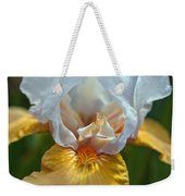 Yellow And White Iris Weekender Tote Bag