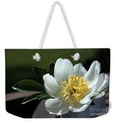 Yellow And White Peony Flower Weekender Tote Bag